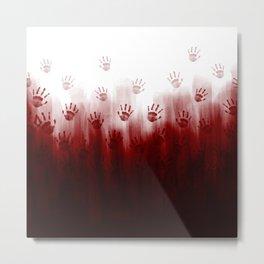 Terror Blood Hands Metal Print