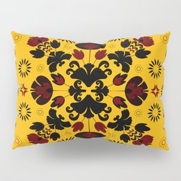 Fiesta Folk Yellow #society6 #folk Pillow Sham