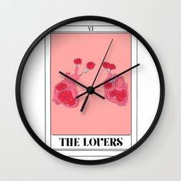 the lovers tarot card Wall Clock