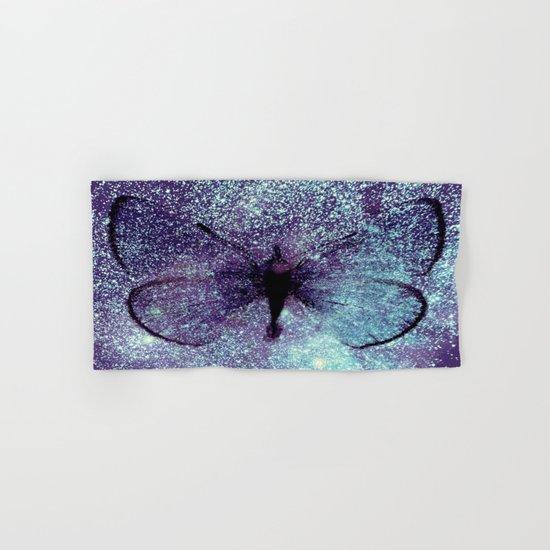 Celestial Butterfly Lavender Aqua Hand & Bath Towel