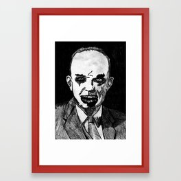 34. Zombie Dwight D. Eisenhower Framed Art Print