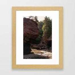 Little Adventurer - Hopewell Rocks, NB Framed Art Print
