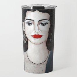 Amalia Rodrigues, the voice of the fado Travel Mug