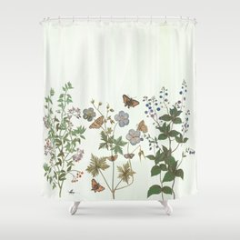 The fragility of living - botanical illustration Shower Curtain