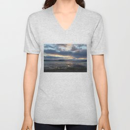 Perfect Sunset over Half Moon Cove Unisex V-Neck