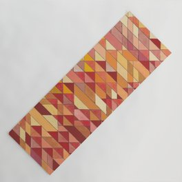 Triangle Pattern no.4 Warm Colors Red and Yellow Yoga Mat