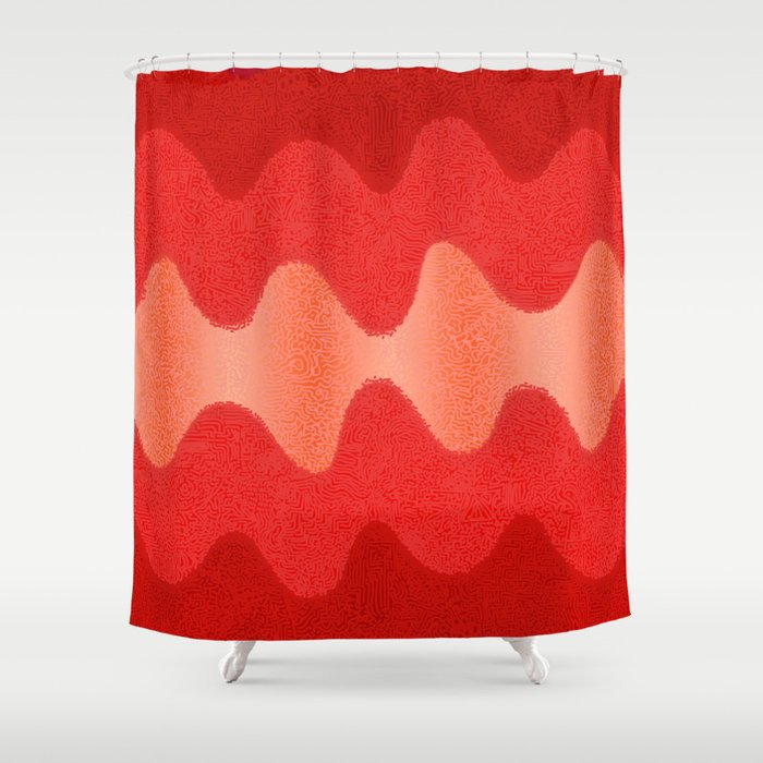 Under The Influence Marimekko Curves Roses Shower Curtain