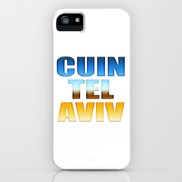CUIN TEL AVIV iPhone Case