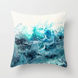 Green Wave #1 Throw Pillow