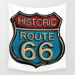 Historic Route 66 Sign Wall Tapestry