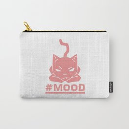#MOOD Cat Pink Carry-All Pouch