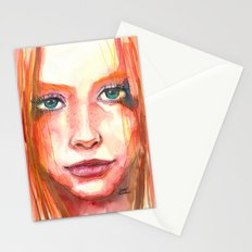 Portrait - RedHair & Freckles Stationery Cards