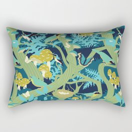 North American Forest Pattern (Greens) Rectangular Pillow