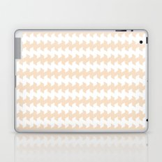 jaggered and staggered in linen Laptop & iPad Skin