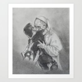 Pope Francis - Showing Us How To Love Art Print