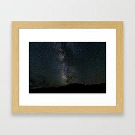 Death Valley Milky Way Framed Art Print