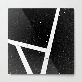 black and white grunge road marking Metal Print