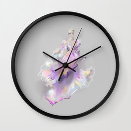 Grey Gown Sketch no 1 Wall Clock