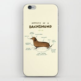 Anatomy of a Dachshund iPhone Skin