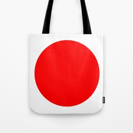One Dot Series 01 - Japan Love - Red on White - Minimalism - Minimal - Abstract Tote Bag
