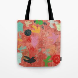 Time Waits Not [candy red] Tote Bag