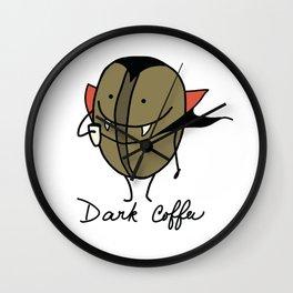 Dark coffee Wall Clock