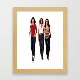 Charlies angels Framed Art Print