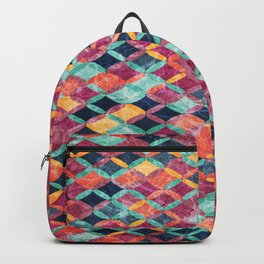 Colorful Geometric Pattern #07 Backpack