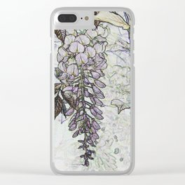 Wisteria Abstract Clear iPhone Case