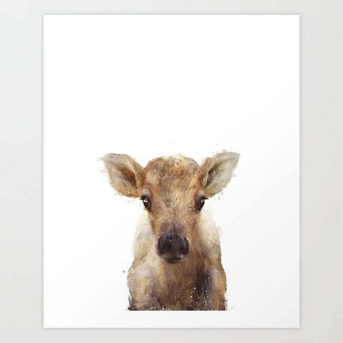 Discover the motif LITTLE REINDEER by Amy Hamilton as a print at TOPPOSTER