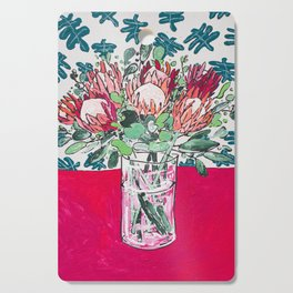 Bouquet of Proteas with Matisse Cutout Wallpaper Cutting Board