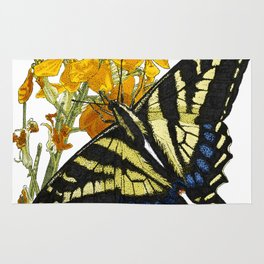 Western Tiger Swallowtail on a Western Wallflower Rug