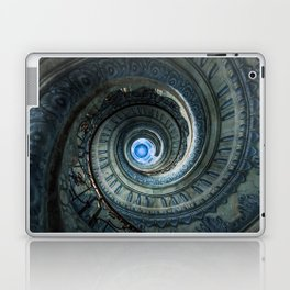 Decorated spiral staircase in blue tones Laptop & iPad Skin