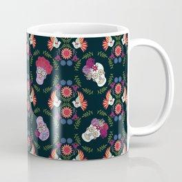 Floral Skeletons Coffee Mug