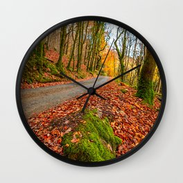 Country Path Autumn Wall Clock