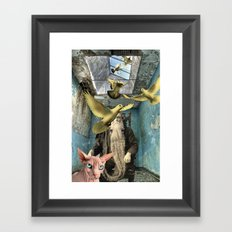 PAUL AND THE PIGEONS Framed Art Print