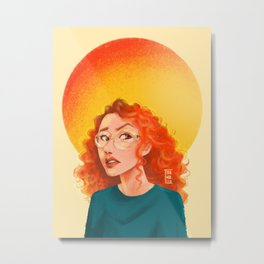CONFUSED GIRL Metal Print