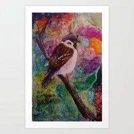 Rainbow Wren Art Print