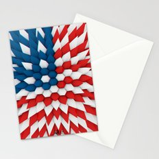 3D Poly Usa Flag Stationery Cards