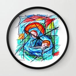 Maria e o menino Wall Clock