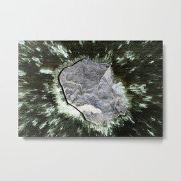 Smart Snow Stone II Metal Print