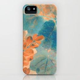 Blue and Orange Autumn Leaves iPhone Case