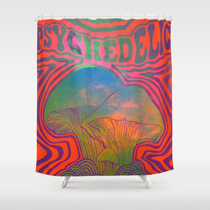 Psychedelic Shower Curtain By Selchidh
