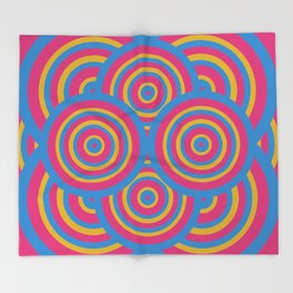 wide eyes&wireframes Throw Blanket