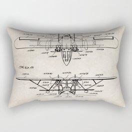 Seaplane Patent - Biwing Seaplane Art - Antique Rectangular Pillow