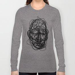 Uncomfortable Scribble Long Sleeve T-shirt
