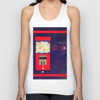 gumball Tank Tops featuring Super Moon Gumball Machine by Mel Moongazer