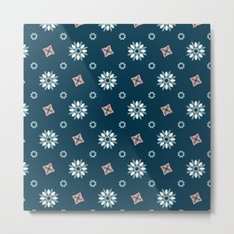 Seamless abstract floral pattern Metal Print