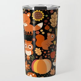 Autumn Party For Forest Friends Travel Mug