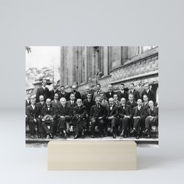 World-Renowned Physicists of 1927 at Solvay Conference Mini Art Print